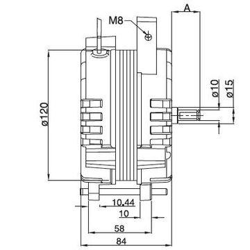 电机型号         芯片厚度         工作电压         额定输入